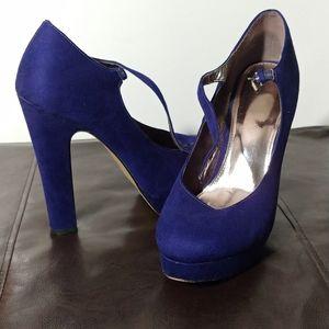 Elle Blue Velvet Pumps